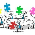 spotkanie zespołu, wymiana informacji, komunikacja