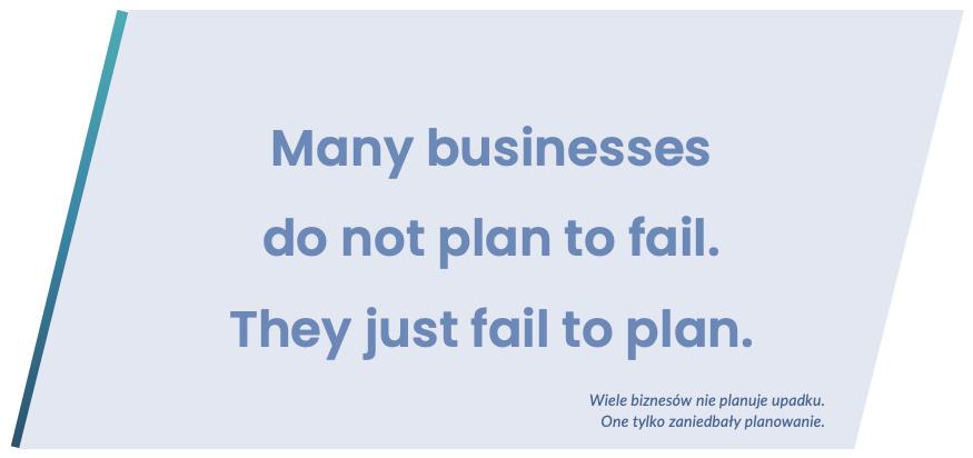 Brak planowania finansów może mieć przykre konsekwencje - powiedzenie