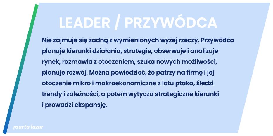 Rola lidera / przywódcy - definicja