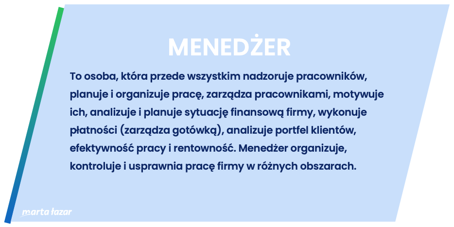 Rola menedżera - definicja