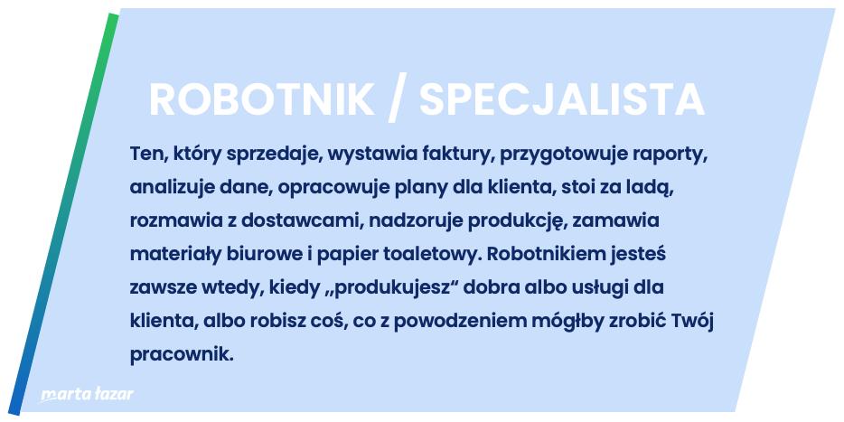 Rola specjalisty - definicja